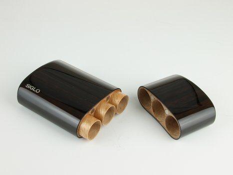 Funda de madera de ébano Siglo para 3 Robusto