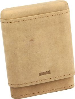 Funda de piel auténtica adorini para 3-5 puros (marrón)