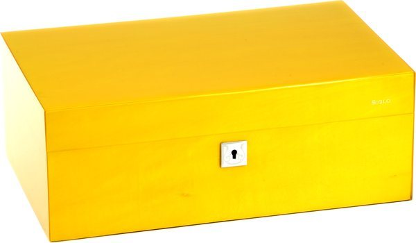 Humidor Siglo M 75 amarillo