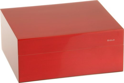 Humidor Siglo S 50 rojo