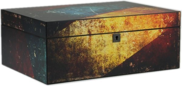 Humidor antiguo multicolor