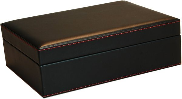 Set Humidor Costura Roja
