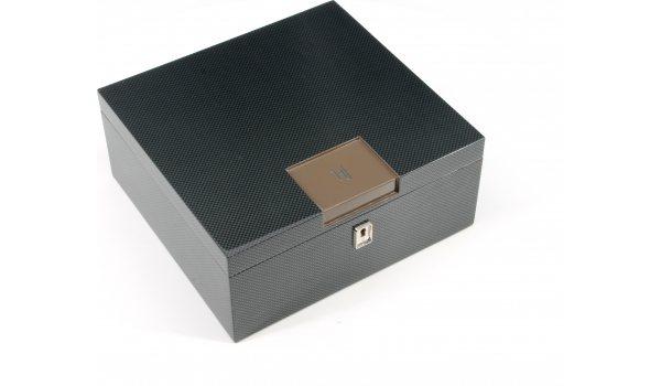 Humidor de escritorio HF Barcelona B  Smart marrón carbono