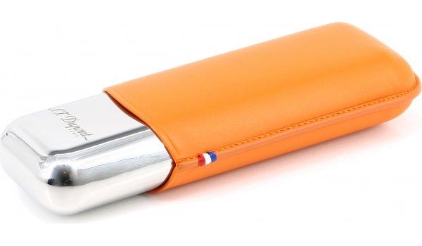 Funda doble de metal S.T. Dupont Naranja