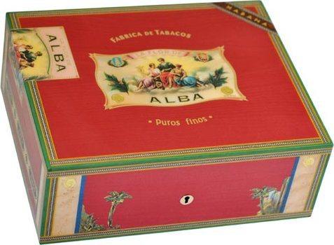Humidor Elie Bleu Flor De Alba Rojo para 75 Puros