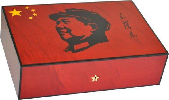 Humidor Elie Bleu Mao Sicómoro Rojo