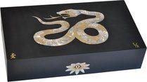 Humidor Elie Bleu Serpiente Nacarada Edición Limitada Negro (Numerado 1-8)