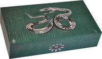 Humidor Elie Bleu Serpiente Nacarada Edición Limitada Verde (Numerado 1-8)