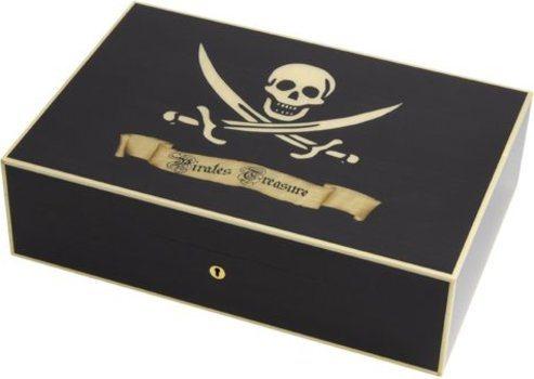 Humidor Elie Bleu Tesoro Pirata Sicómoro Negro para 110 Puros