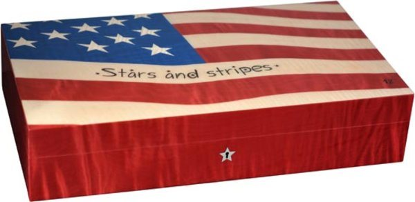 Humidor Elie Bleu Bandera Estrellas y Rayas para 110 Puros