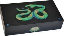 Humidor Elie Bleu Sicómoro Marquetería Serpiente Edición Limitada Negro (Numerado 1-88)