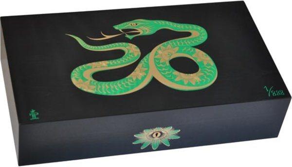 Humidor Elie Bleu Sicómoro Marquetería Serpiente Edición Limitada Negro (Numerado 1-888)