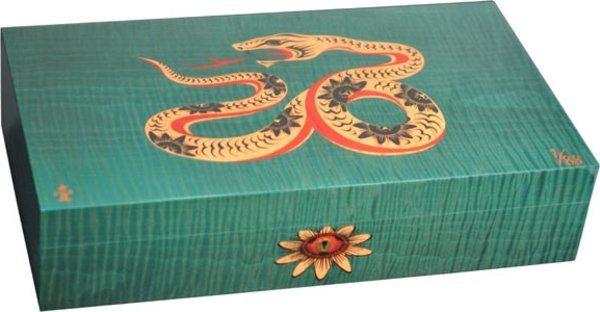 Humidor Elie Bleu Sicómoro Marquetería Serpiente Edición Limitada Verde (Numerado 1-88)