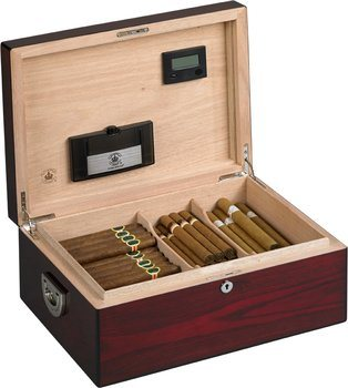 Humidor Diamond Crown The Alexander para 160 puros apariencia de palisandro