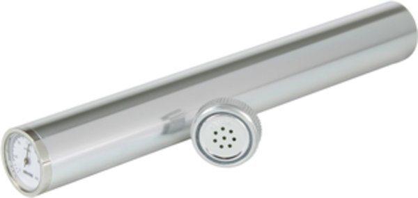 Humidor en Tubo Adorini con higrómetro en Plateado