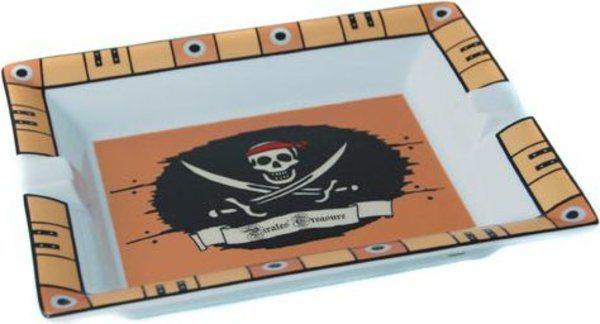 Elie Bleu Porcelana Cenicero tesoro de pirata