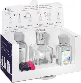 Kit de Iniciación Lampe Berger: Vaso de Cristal en forma de Cubo + 180 ml. Neutro + 180 ml. Aire d'