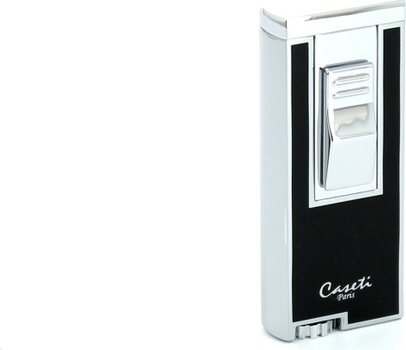 Encendedor Caseti jetflame (cromo/negro)