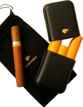 Funda Cohiba de cuero (para 3 puros)