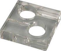 Cenicero Cuadrado para 2 Puros de Cristal