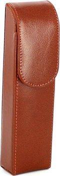Funda de cuero para 2 puros de 16cm (marrón)
